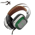 XIBERIA K10 Over ear Gaming Headset USB Computer Stereo Heavy Bass Game Headphones with Microphone LED