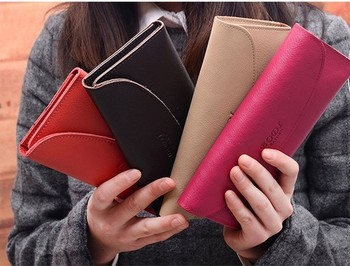 Hot Selling 2014 Christmas Gifts Women's  Mroe Screens Medium-Long Leisure 100% Genuine Leather Wallet +Wholesale+Free Shipping