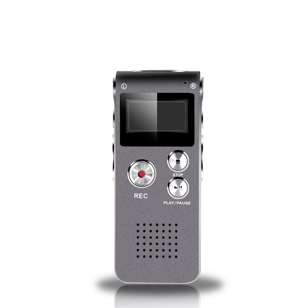 Voice-Recorder-Digital-N28-8G-USB-digital-voice-recorder-silver-Black-Mp3-player-free-ship-SD