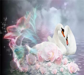 Diy Diamond painting animal diamond cross stitch crystal square diamond sets unfinish decorative Diamond embroidery swan