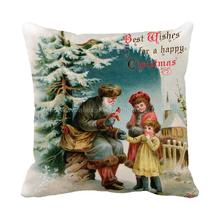 Buy Best wishes Kind Snata gives toys kids print christmas chair bed cushions home decor almofada sofa throw decorative pillows for $5.06 in AliExpress store