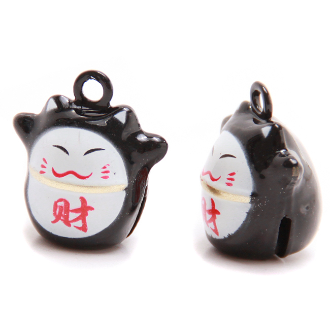 15pcs/lot Black Copper Cat Jingle Bells Cute Animal Jewelry Bell Findings Fit Christmas Festival/Party 20.5*16*13.5mm 270288(China (Mainland))