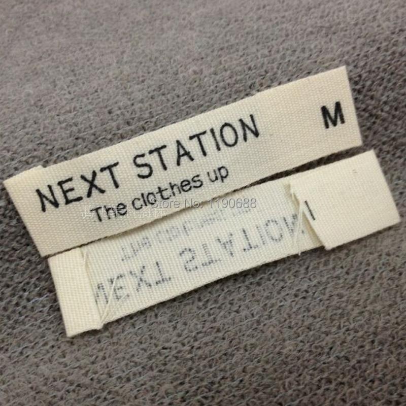 Online kopen wholesale aangepaste kleding labels uit china for T shirt tags wholesale