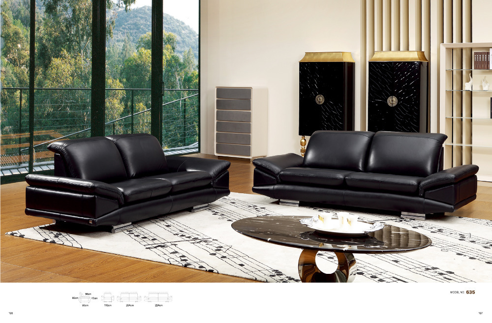 2014 sofa set living room furniture modern living room couch with Top grain italian leather # 635(China (Mainland))