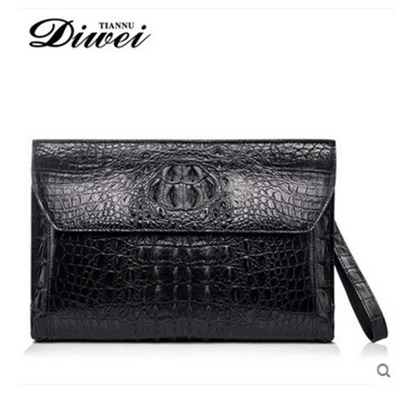 diwei crocodile men leather handbags high-capacity business casual men arm in arm with coach handbags(China (Mainland))