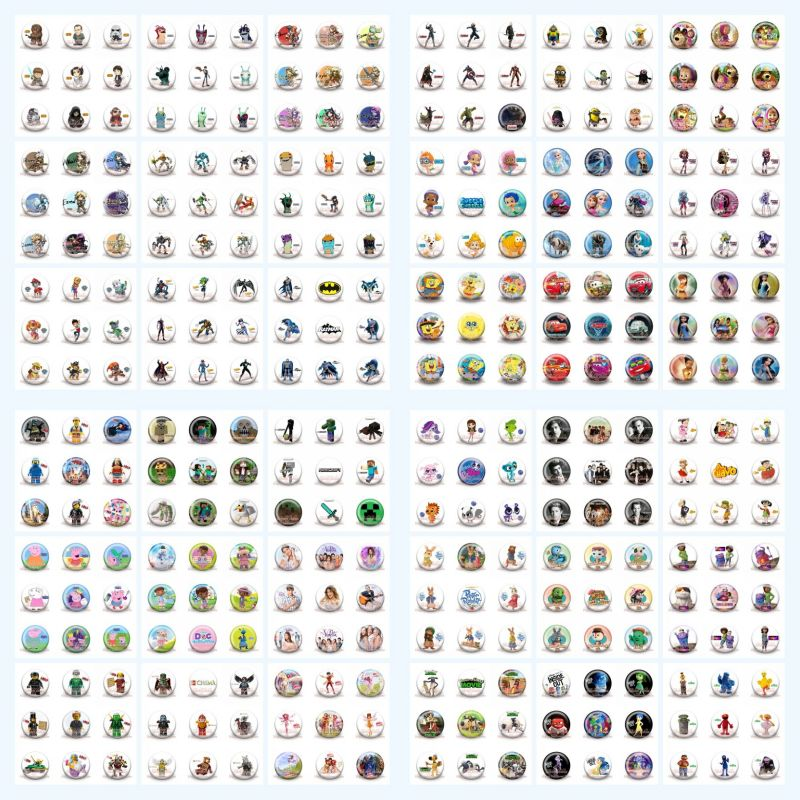 Mix 900pcs Naruto The Avengers Mickey Star War LOL Cloth Bag Accessories Brooch,Pinback Button Pin Badge,Round Brooches kid Gift(China (Mainland))