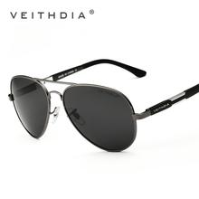 Aluminio y magnesio gafas de sol de aviador polarizado lentes hombres vidrios de sol para hombre pesca exterior Eyewears accesorios 6695