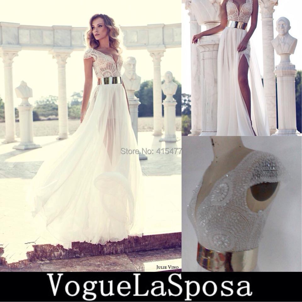 Hot 2014 beading julie vino wedding dresses - Suzhou VoguelaSposa Wedding Dress Co., Ltd. store