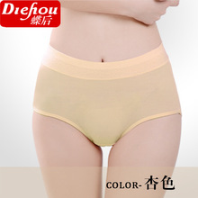 New Hot Solid Color Lace Jacquard Seamless Underwear Women Sexy Plus Size Briefs Cotton Comfortable Women Panties 4NK041(China (Mainland))