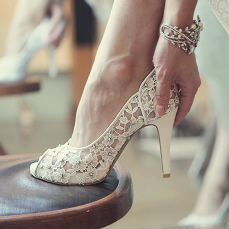 Bling bling flowers wedding shoes pretty stunning heeled for Heels for wedding dress