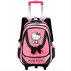 Hot 2015 Newest Fashion Cute Cartoon Hello Kitty Children Backpack Kids Mochilas Trolley School Bags Girls Mochila Infantil - Baby & Honey store