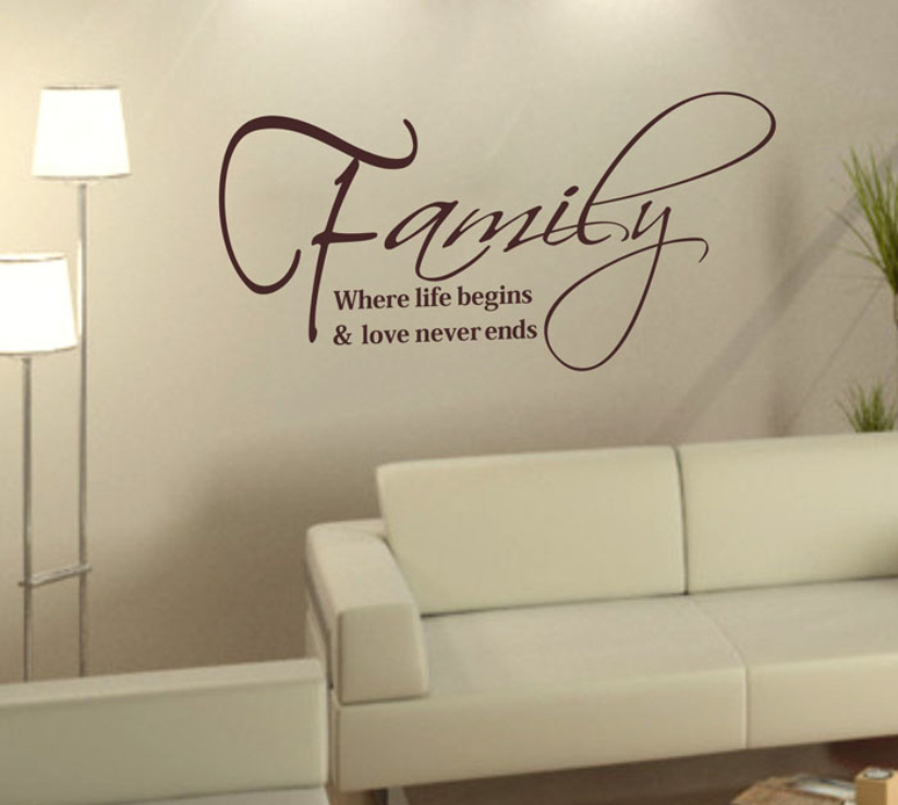 Hot Marketing 2015 Family Fashion Creativity Peel and Stick Wall Stickers Decals home decor Jul3(China (Mainland))
