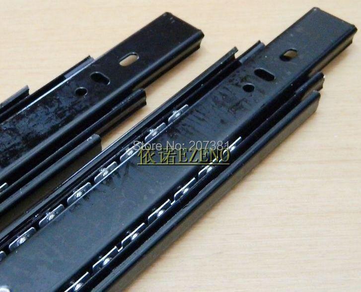 """Free shipping 1 pair 13.78"""" Black Full Extension Side Mount Ball Bearing Drawer Slides 66lb(China (Mainland))"""
