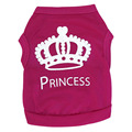 Rose Pink Princess Pup Dog Cat Pet T Shirt Vest Clothes Top Polo Outfit Summer Dress