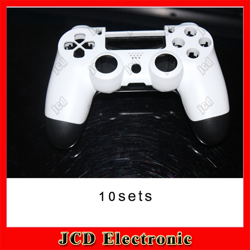 10PCS Replacement Cover Case Housing Shell for Sony Playstation 4 PS4 White Wireless Controller Front White &amp; Back Black<br><br>Aliexpress