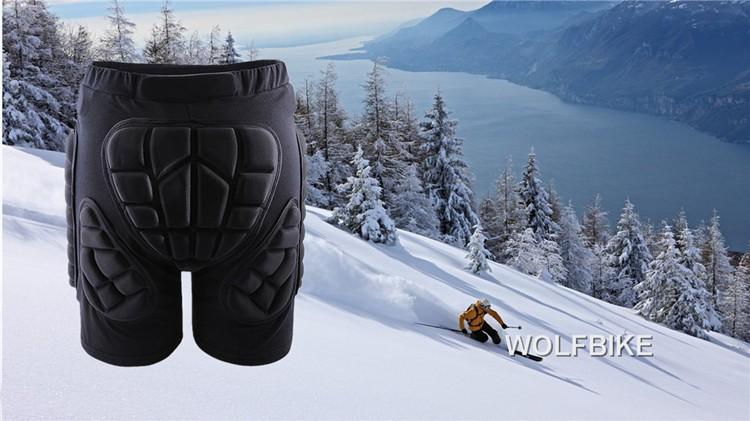 Слон wolfbike Черный короткий защитный для бедер и ягодиц колодки лыжи коньки HTB1KPesGXXXXXcWXXXXq6xXFXXXo