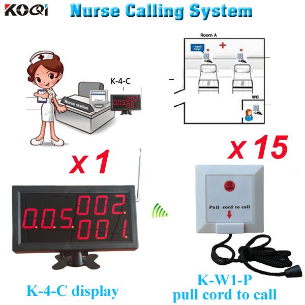 Emergency call button for elderly wireless monitor K-4-C install nurse station W 15pcs service buzzer(China (Mainland))