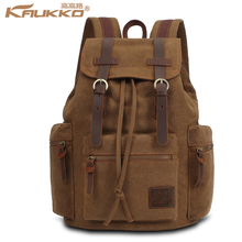 Buy KAUKKO Latest Vintage Backpack Fashion Canvas creeper backpack Leisure Travel School Bags Unisex Laptop Backpacks Men Mochilas for $29.59 in AliExpress store