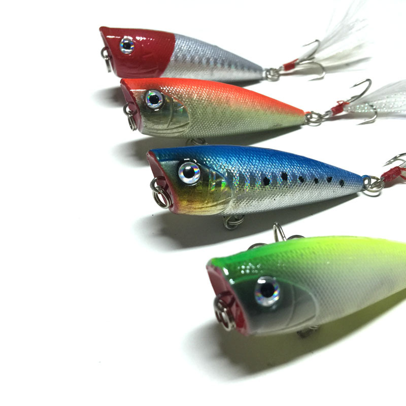 Popper Fishing Lure M&X Japan Mini Small Topwater 3D Eyes Hard Bait 64mm 7.3g Hook Tackle Popper Fishing Lure(China (Mainland))