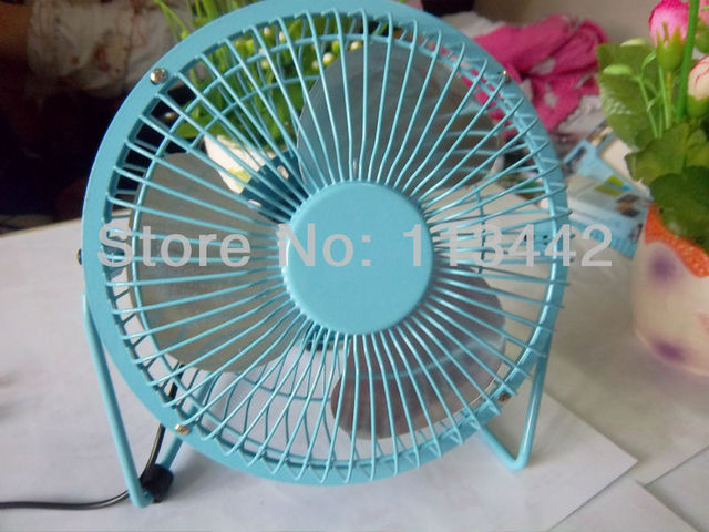 Free shipping Portable USB Mini Cooler Cooling Desk Fan For PC Laptop Notebook Desktop  or ourselves skyblue hot sale in summer