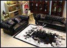 tapis leather carpet rug living room furniture