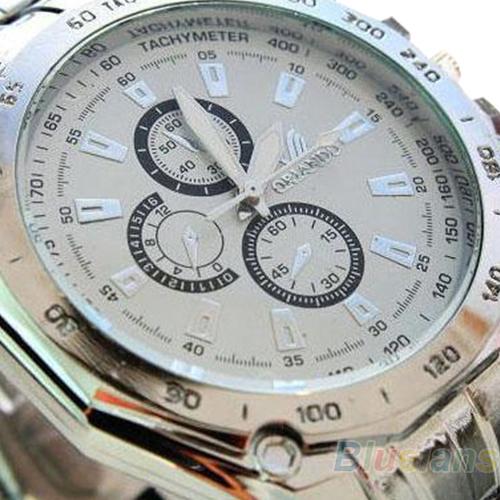 Hot Sale Luxury Fashion Men Stainless Steel Quartz Analog Hand Sport Wrist Watch Watches 0QK4