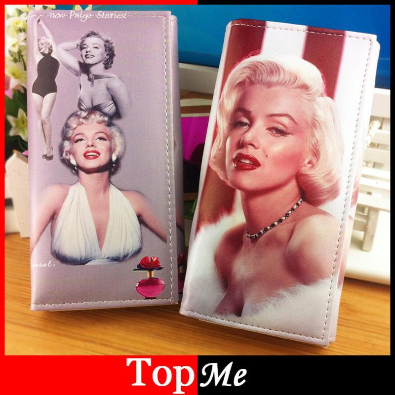 Brand Clutch Women Wallets Monroe Hepburn Pattern Cards Holder Lady Purse Bags Burse Carteira Feminina Billeteras Portefeuille<br><br>Aliexpress