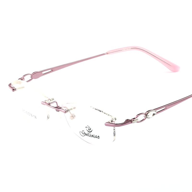 Frameless Eyeglasses Frames : Brand New 2016 Ladies Spectacle Frame for Prescription ...