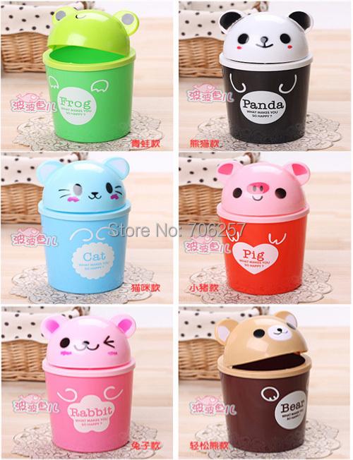 2015 Polo Ralp Women Design Plastic Top Price Free Shipping Cute Animals Garbage Bin Fashion Mini Storage Box Multicolor Chose(China (Mainland))