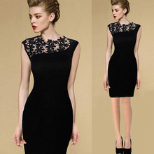 Buy Elegant Dress Summer Black Sexy Women Stretch Evening Party Lace Slim Bodycon Pencil Dresses Vestidos Crochet Casual Dress H3 H2 for $4.92 in AliExpress store