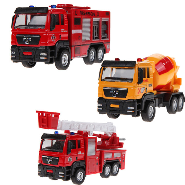 1:55 Scale Alloy Engineering Models Slide Toy Car, Truck, Mixer,Children's Educational Toys