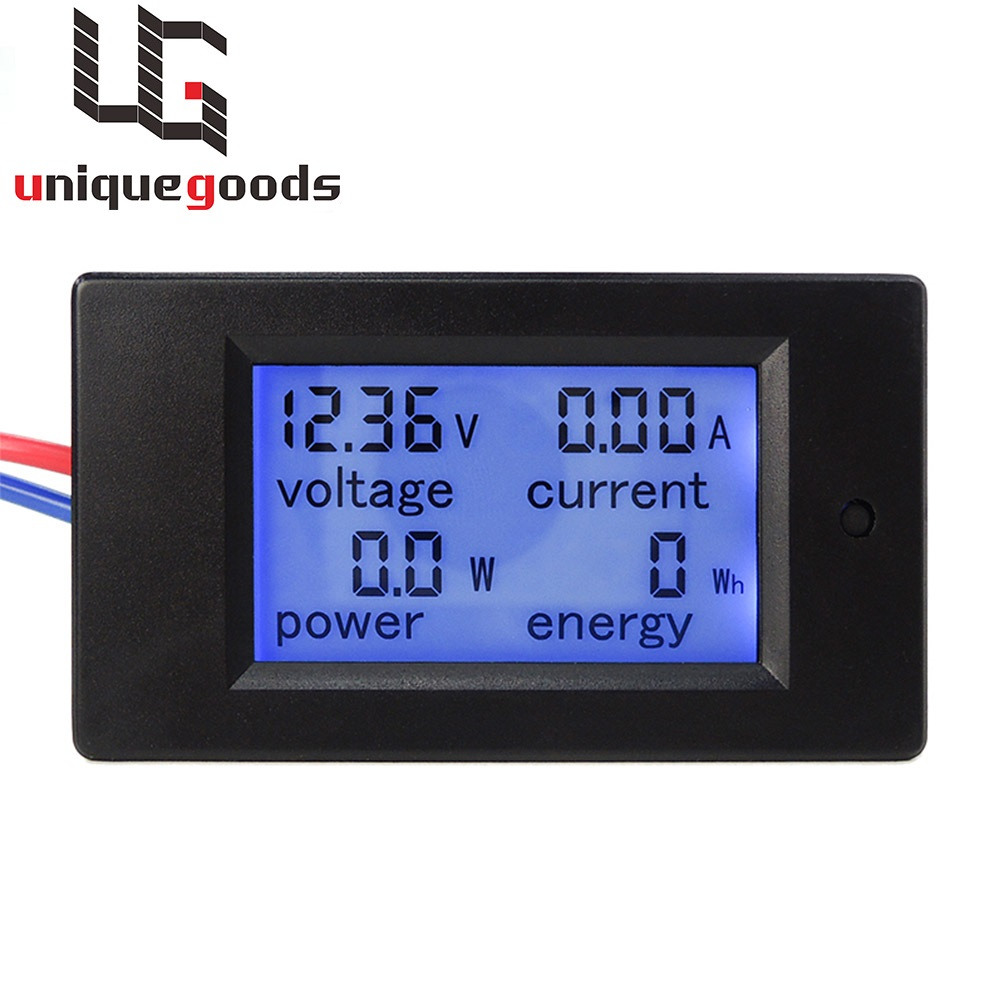New DC 6.5-100V 0-20A LCD Display Digital Current Voltage Power Energy Meter Multimeter Ammeter Voltmeter with 20A Current Shunt(China (Mainland))