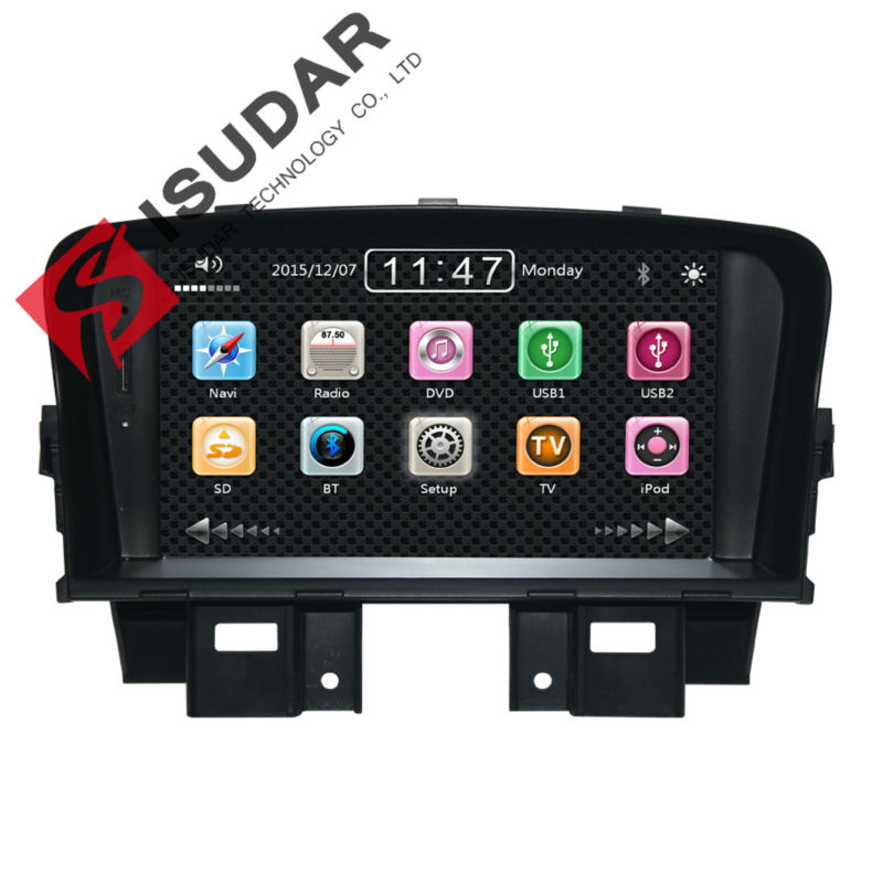 Two Din 7 Inch Car DVD Player CHEVROLET/CRUZE DAEWOO/LACETTI 3G Host Radio GPS RDS Bt TV 1080P Ipod Free Maps - ISUDAR INDUSTRIAL CO.,LTD. store