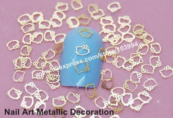 Freeshipping-1000PCS Lovely Fashion Design Gold Metallic Decoration Sticker Fashion Acrylic Nail Decals DIY Material DK-3516#