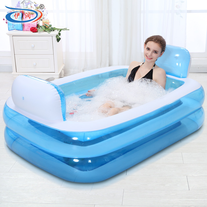 inflatable bathtub folding tub thickening adult bathtub child bath basin bath bucket plastic