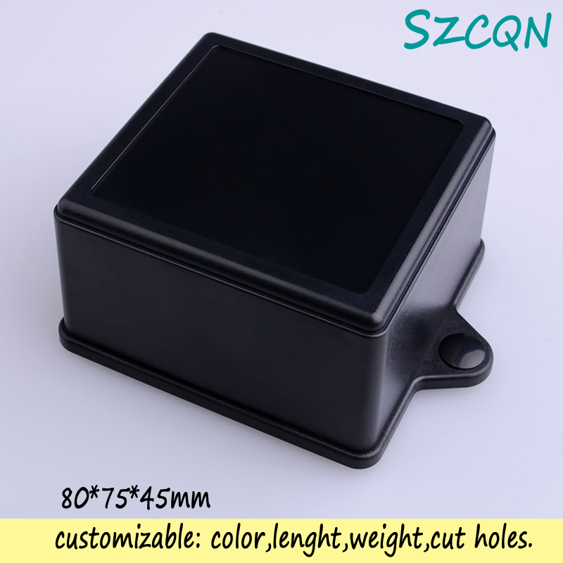 [1] black wall mount plastic enclosure electronic diy housing project box abs cases 80*75*45mm - QN-Enclosure Technology CO.,ltd store