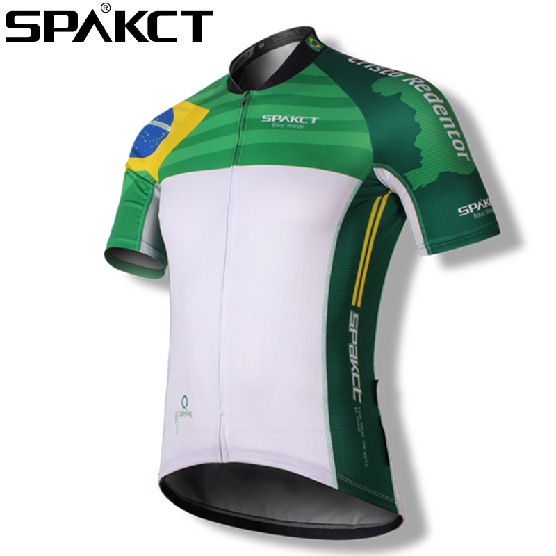 SPAKCT  100% Polyester Breathable Quick-dry Cycling Short Jersey Short Sleeve Bike Bicycle Jersey Sports Riding Clothing