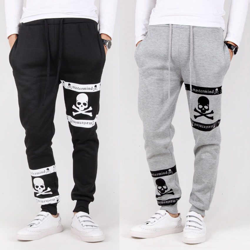 Men Pants 2014 Autumn Winter Fleece Thicking Loose Casual Cotton Trousers Straight Harem Baggy Sport A30 - AOXUAN CLOTHING CO.,Ltd store