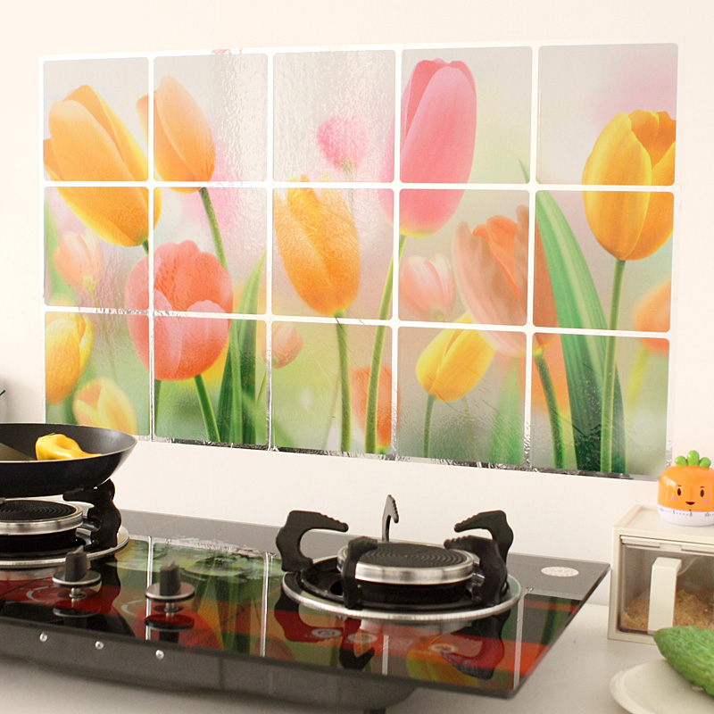 Kitchen Wall Decor Vegetables : New waterproof aluminum foil kitchen wall stickers