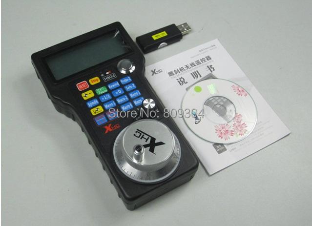 Wireless USB Manual Pulse Generator electronic Handwheel Control to Mach 3 4 axis CNC DHL Shipping(China (Mainland))