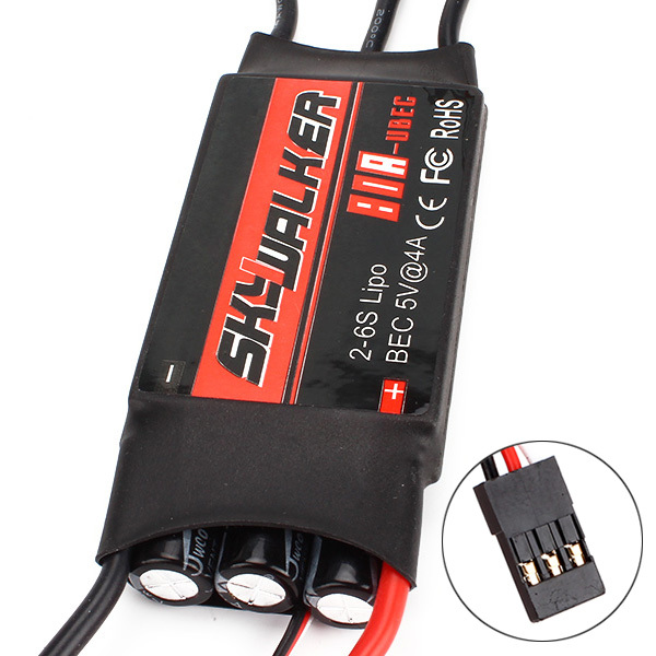 Black 80A Brushless Speed Controller ESC For RC Cars And RC Helicoper(China (Mainland))