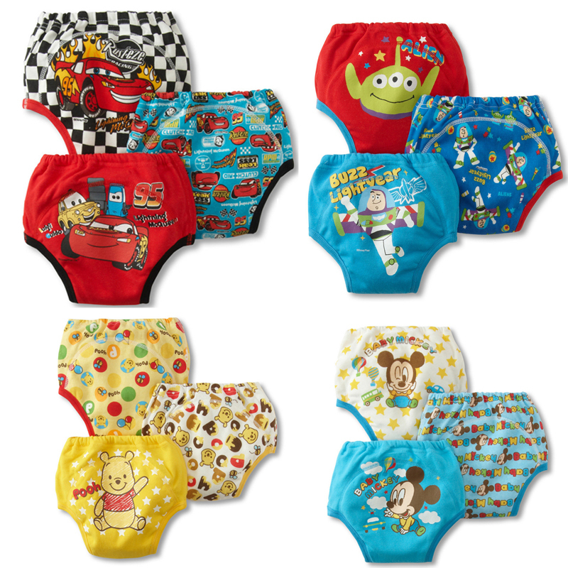 3Ps Newborn baby Cloth training diapers/nappy cover wizard reusable washable Training urine Pants cartoon nappies - I love store