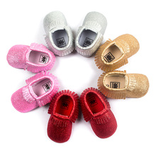 Buy Romirus Bling New metallic Newborn Baby Boys Girls shoes Toddler Infant Shoes Tassel Baby Moccasins Christmas Gift Shoes 0-18M for $3.58 in AliExpress store