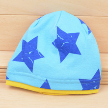 2016 New Design Children Boy and Girl Beautiful Star Cap Cotton Knitted Baby Infant Hat Hood