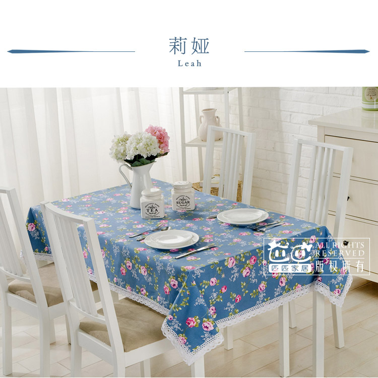 European high-grade cotton linen pastoral floral lace tablecloth round rectangel square coffee table cover customed(China (Mainland))