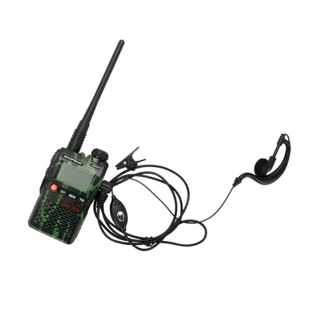Free Shipping Baofeng BF-UV3R Mark2 Walkie Talkie Dual Band 137-174/400-470mhz 99ch 2W Two Way Radio(Army green) +Free Earpiece(China (Mainland))