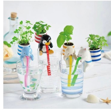 Happy Farm pet drink straw suck in hydroponic plants potted cute mini desktop potted plants(China (Mainland))