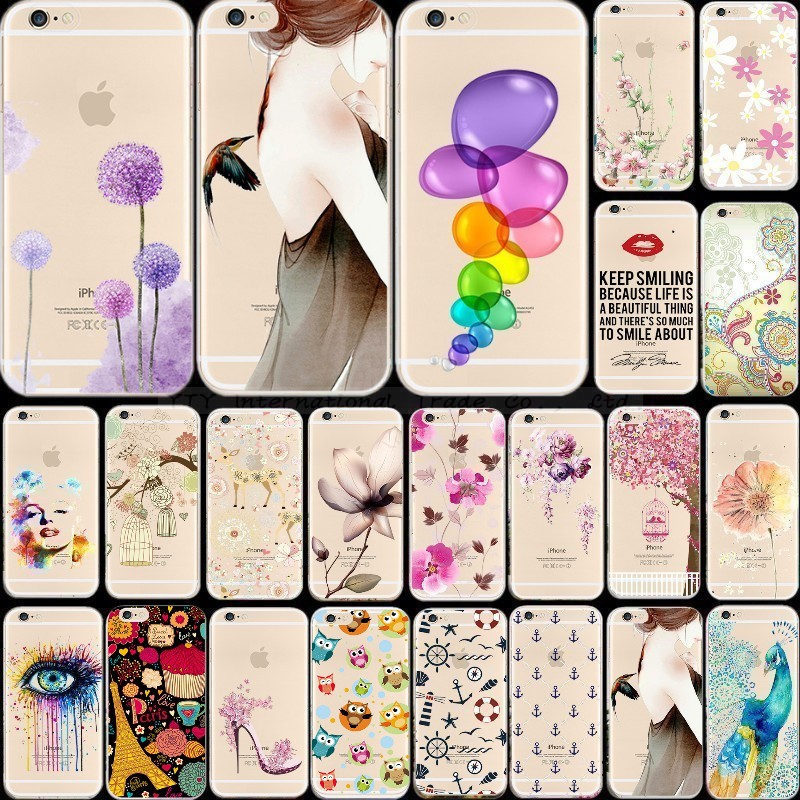 6/6S Phone Back Shell Cases For Apple iPhone 6 6S Soft TPU Elegant Painted Case Cover Skin 2016 Newest Arrival Top Popular 1PC(China (Mainland))