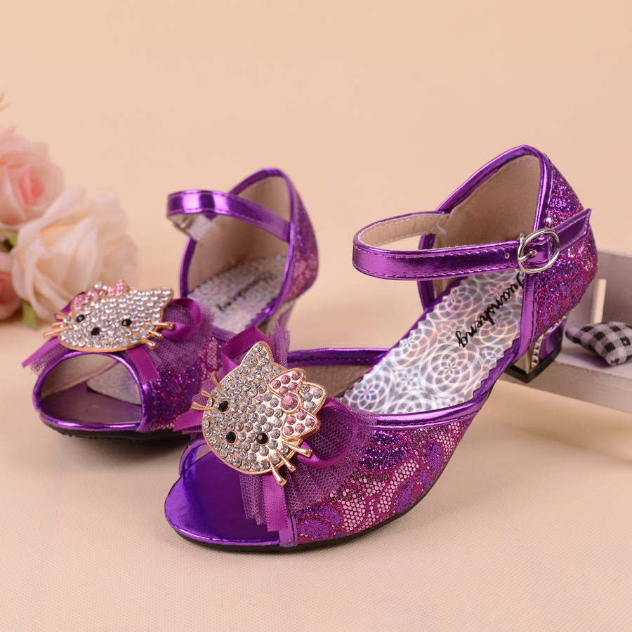 Purple Heels For Kids - Is Heel