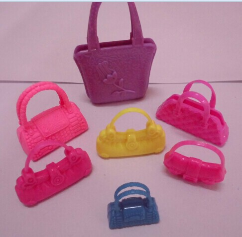 7pcs/lot New Trend top quality Combine Fashion Combine Colour Orignal bag for barbie doll Free transport